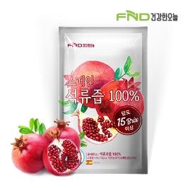FND건강한오늘 100% 석류즙 80mL x 30포 / 30포 구매시 1포당 330원 / 300포 구매시 1포당 293원