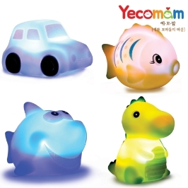 [위메프어워즈] 예꼬맘 LED 목욕 욕실 물놀이 장난감 프렌즈 4종세트 + 그물망 #추가증정이벤트 #8+1 #핵인싸템 #반짝반짝