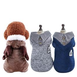 [더싸다특가] 강아지 의류 추운겨울 따듯한 강아지 패딩 루돌프 강아지 올인원