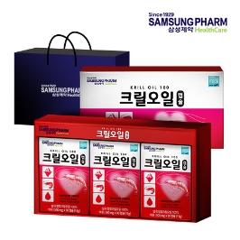 삼성제약 크릴오일 3개입 선물세트 + 쇼핑백