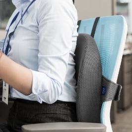 큐어백 허리쿠션 앉아있는 당신에게 건강한 허리습관/  바른자세 방석 / 쿠션+방석 세트 자세교정방석 사무실 의자 허리받침대