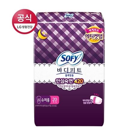 쏘피 바디피트 생리대 바디피트 볼록맞춤 슈퍼롱 20P♥