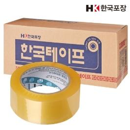 [무료배송] 국내산 박스테이프 더블경포장80M(투명20개)