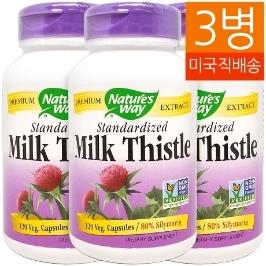 [네이쳐스웨이] [해외배송] 3병 네이쳐스웨이 밀크씨슬 120야채캡슐