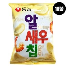 [원더배송] 농심 알새우칩 68g 10봉