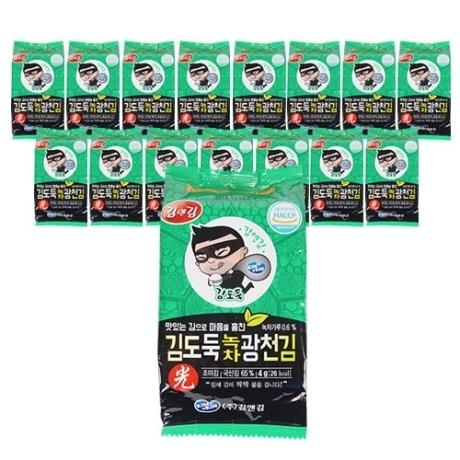 김앤김 김도둑 대천 녹차 도시락김 4g 16단+16단+16단