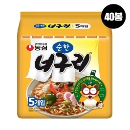 [원더배송] 농심 순한 너구리 120g 40봉