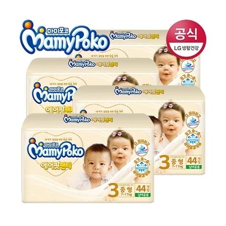 [마미포코] [쿠폰할인] 마미포코 에어핏 팬티 중형공용 44매 4팩(1박스)