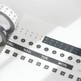 모모팝 블랙데이 모모마테 디자인 마스킹 테이프
