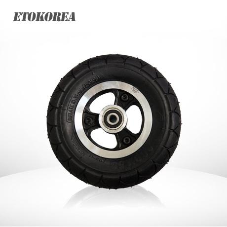 전동킥보드 앞바퀴 8인치 통고무타이어 200x50 휠포함 내경10mm