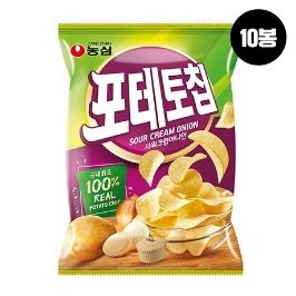 [원더배송] 농심 포테토칩사워크림어니언 60g 10봉