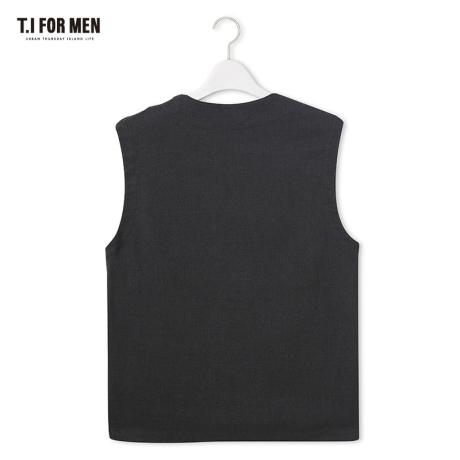 [티아이포맨] [TI FOR MEN] 티아이포맨 폴리혼방 베스트 M176MVT210M1GY2