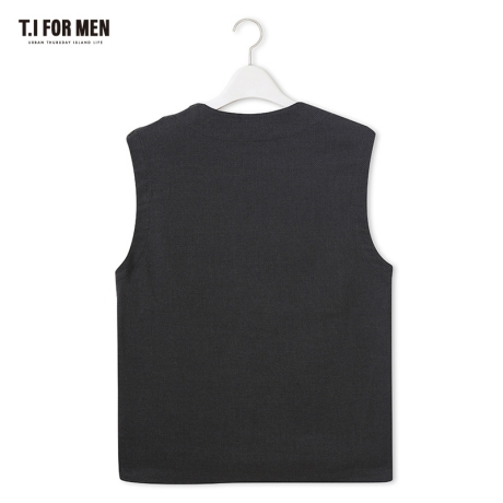 [TI FOR MEN] 티아이포맨 폴리혼방 베스트 M176MVT210M1GY2