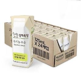 [원더배송] 상하목장 유기농 멸균우유 125ml X 24팩