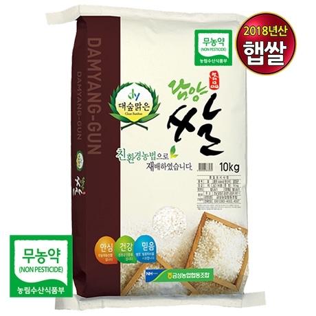 담양 대숲맑은 무농약쌀 10kg