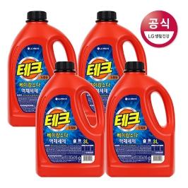 [테크] [무료배송] 테크 베이킹소다 액체 세제 용기 3L x4개 (2종택1)