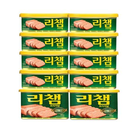 [동원] (현대Hmall)동원]리챔 120gX8캔 + 200gX2캔 (총10캔) /햄/통조림