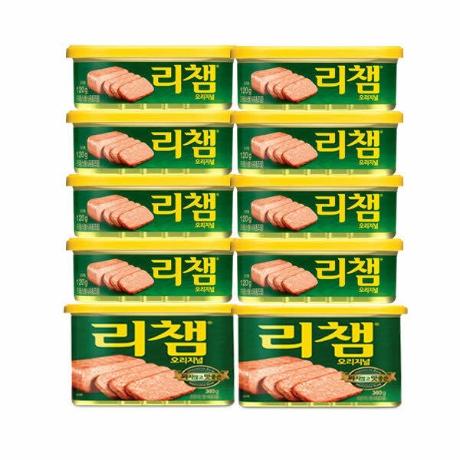 (현대Hmall)동원]리챔 120gX8캔 + 200gX2캔 (총10캔) /햄/통조림