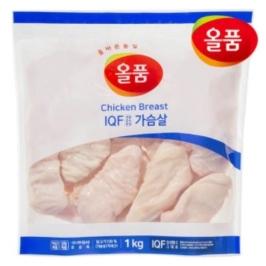 올품 IQF 닭가슴살 5kg ( 1kg x 5봉 )