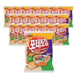 [원더배송] 농심 포테토칩 육개장사발면맛 60g 20봉