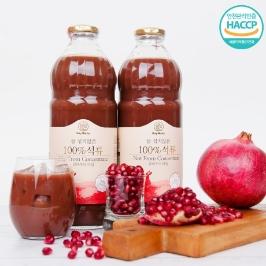 [60초쇼핑] 물 섞지않은 100%석류 클라우디타입 / NFC 착즙 100%석류즙 1L