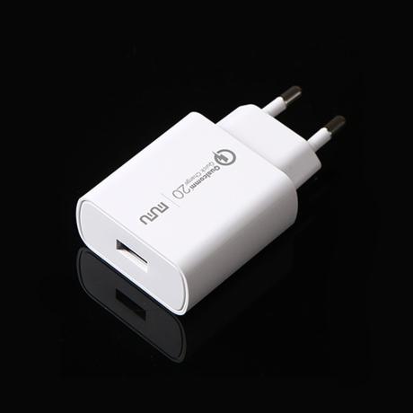 [투데이] 무무 스마트폰 퀼컴2.0 가정용 고속충전 아답터+5핀 충전케이블1.2m