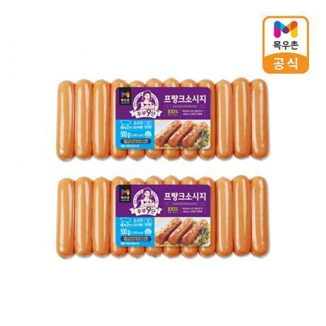[목우촌] 주부9단 프랑크 소시지 1kg(500g*2)