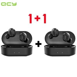 QCY T2S 1+1 개당 19,950원  블루투스 무선 이어폰/블루투스5.0 / 무료배송 / 파우치 포함