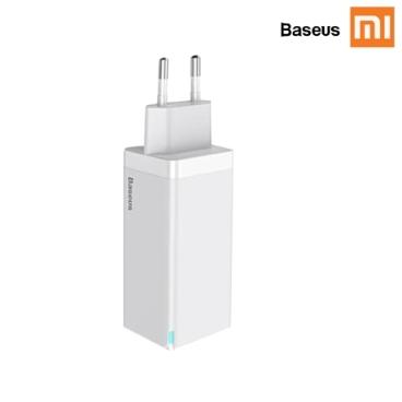 샤오미 베이어스 Bseus GaN 미니 고속 충전기 60W 110-220V 한국형 코드 (화이트색)