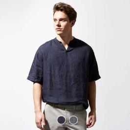 (현대백화점)컨셉원 린넨 100 반팔 풀오버 셔츠 049514/10049514