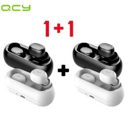 [1+1 특가상품!] QCY T1 블루투스 5.0 무선 이어폰/블랙/무료배송