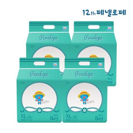 씬씬씬 썸머 팬티기저귀 특대형 남아 28매x4팩