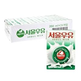 [원더배송] 서울우유 멸균우유 흰우유 200ml X 24
