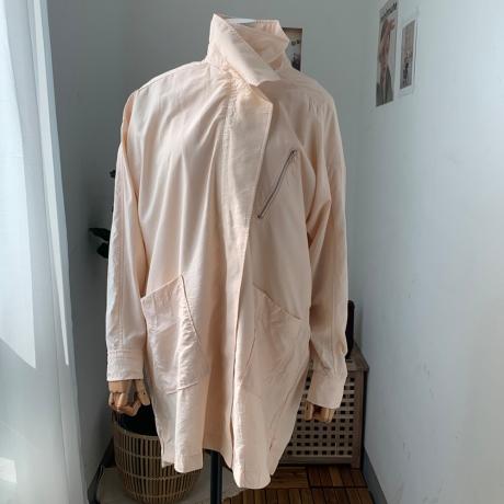 하이넥 사파리 봄자켓