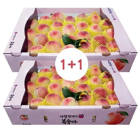 1+1★총2박스 털복숭아 4.5kg 24-25과