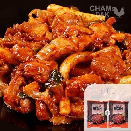 한정수량2000개/참닭 춘천식 닭갈비 700g + 700g (총 4인분)/매콤달콤 닭다리살