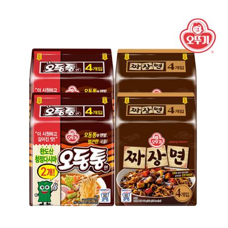 [오동짜장]맛남의 광장 오동통면 8봉+오뚜기 짜장면8봉