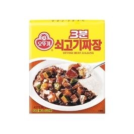 [싸고빠르다] 3분 쇠고기 짜장 200G 1개 (유통기한 21년 6월 25일)