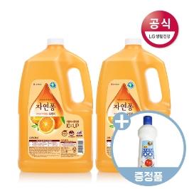 [더싸다특가] [무료배송] 자연퐁 팝 퍼퓸 주방세제 대용량 용기 2.5kg x2개 (3종택1)