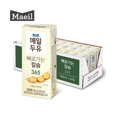 [매일유업] 매일 뼈로가는 칼슘두유 365 소이밀크진 190ml 24팩