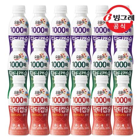 [빙그레]빙그레 닥터캡슐 1000배 사과6개+플레인6개+베리믹스6개