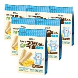 [원더배송] 구워만든 순곡물바 치즈 40g X 6개