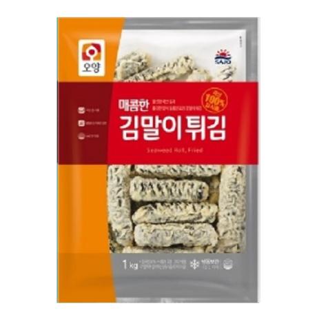 사조 매콤한 김말이튀김 1kg/김말이튀김/꼬마 김말이
