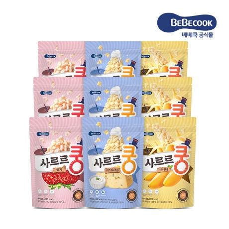 사르르쿵 3종 총 9봉 / 치즈요거트 3봉 딸기 3봉 바나나 3봉