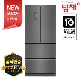 [딤채] 2020년형 딤채 스탠드형 김치냉장고 4도어 457리터 EDQ47DFRZKT