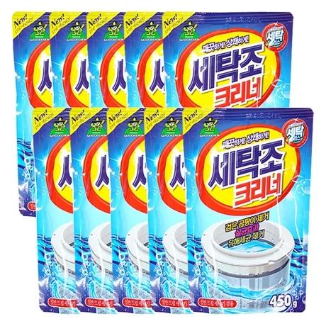 [산도깨비] 산도깨비 세탁조크리너450g x 10개 / 세탁조 세탁조클리너 세탁기청소 세탁기클리너 세탁기먼지 세탁기 세탁기먼지청소
