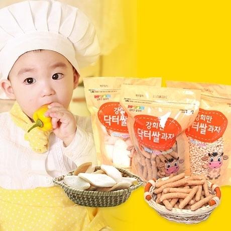 강희만닥터 시금치 현미 쌀과자 12+3