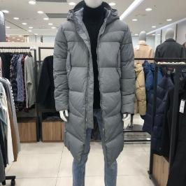 [모다아울렛] 닉스 공용 변형퀼팅 다운 롱패딩 점퍼 NLWCUW704-GY
