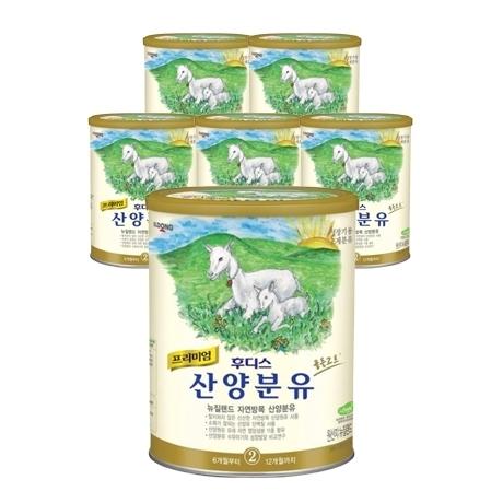 [원더배송] 일동후디스 산양분유 2단계 400g X 6