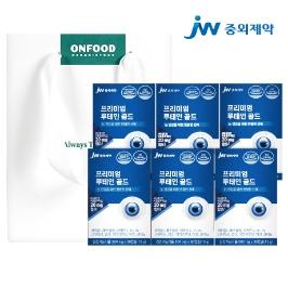 JW중외제약 프리미엄 루테인 골드 눈영양제 30캡슐 6박스 총 6개월분 선물세트